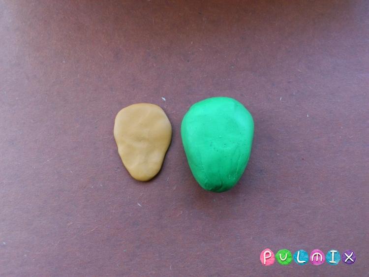 Как слепить черепашку-ниндзя Леонардо из пластилина поэтапно - шаг 6