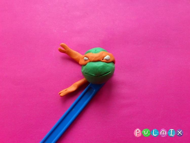 Как слепить Черепашку Микеланджело  из пластилина поэтапно - шаг 12