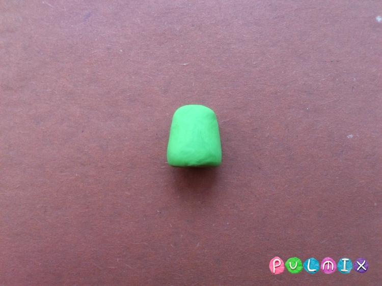 Как слепить фиксика Папуса из пластилина поэтапно - шаг 3