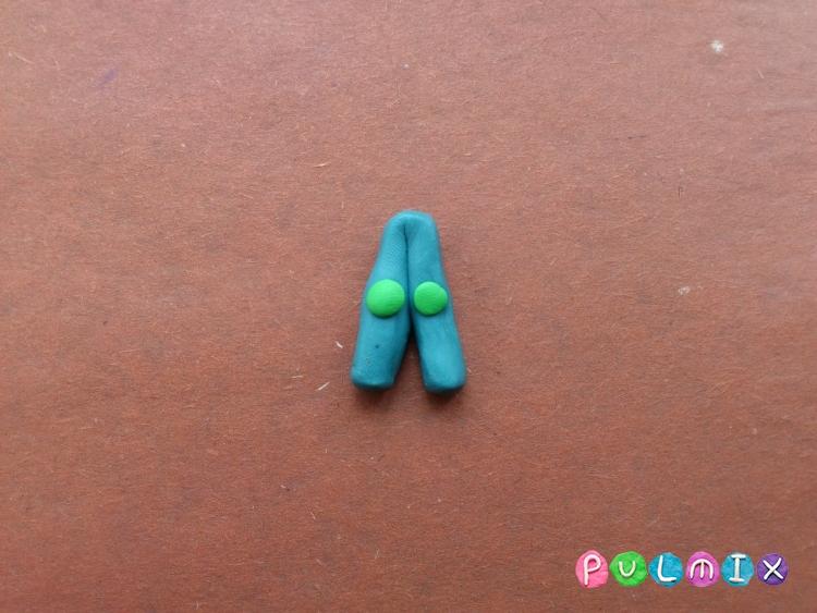 Как слепить фиксика Верту из пластилина поэтапно - шаг 10