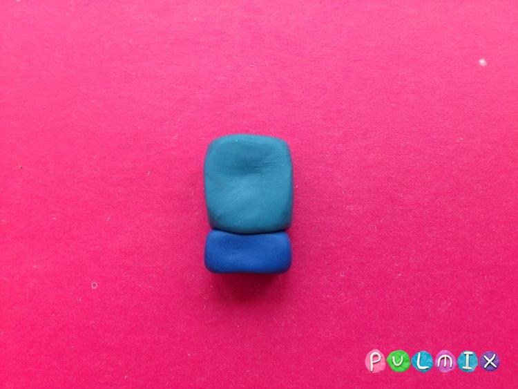 Как слепить Финна из пластилина поэтапно - шаг 7