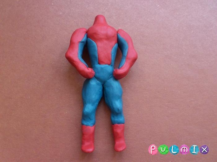 Как слепить из пластилина человека паука фото урок - шаг 11