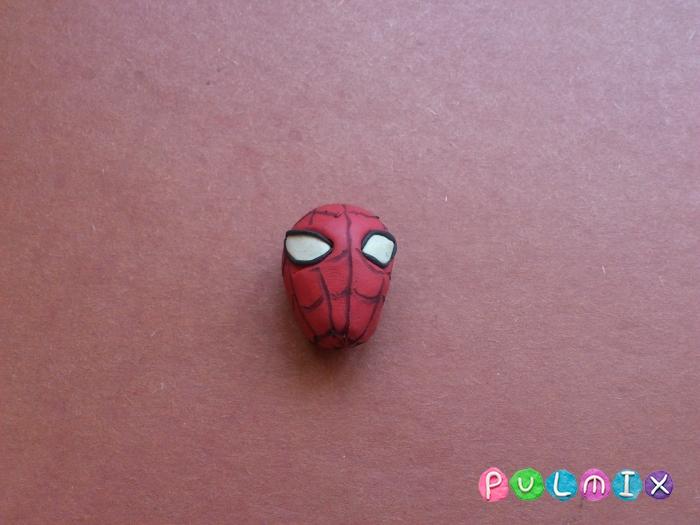 Как слепить из пластилина человека паука фото урок - шаг 13