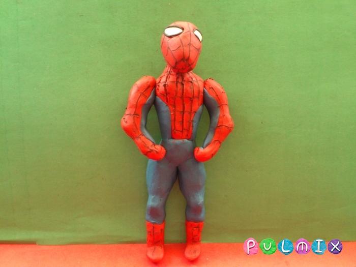 Как слепить из пластилина человека паука фото урок - шаг 14