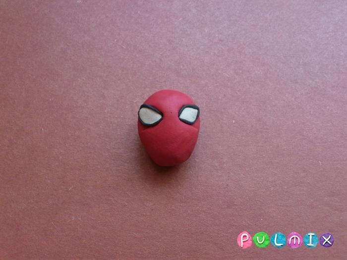 Как слепить из пластилина человека паука фото урок - шаг 4