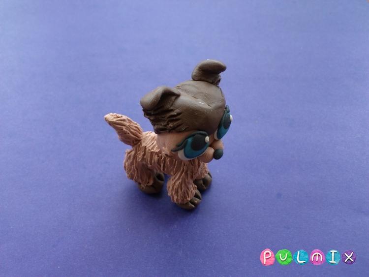 Как слепить из пластилина маленькую собачку Pet Shop - шаг 13