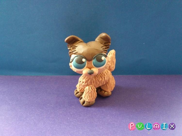 Как слепить из пластилина маленькую собачку Pet Shop - шаг 14
