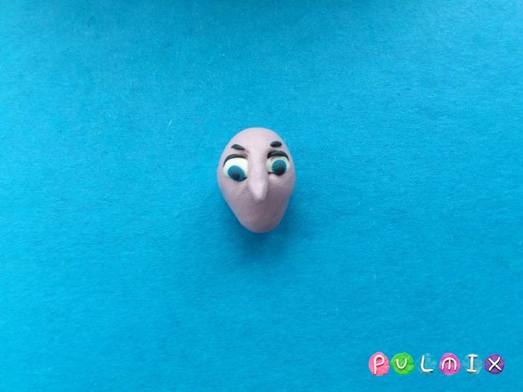 Как слепить из пластилина Скарлетт Оверкилл - шаг 4