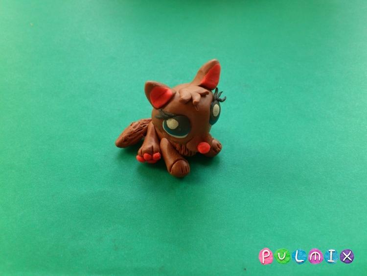 Как слепить котенка Littlest Pet Shop из пластилина - шаг 13