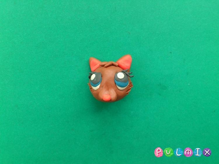 Как слепить котенка Littlest Pet Shop из пластилина - шаг 7