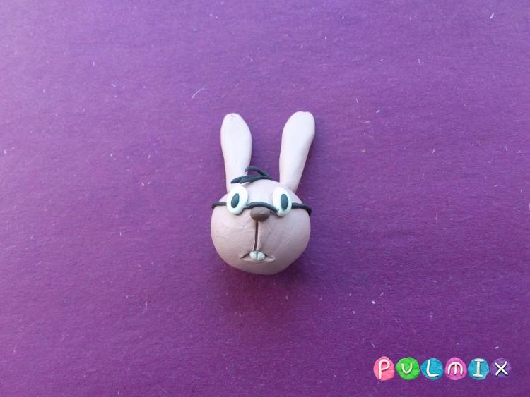Как слепить Кролика из пластилина из Винни-Пуха поэтапно - шаг 5