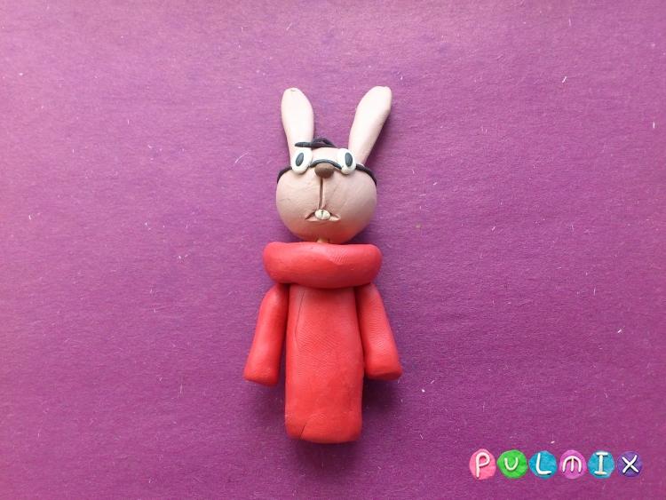 Как слепить Кролика из пластилина из Винни-Пуха поэтапно - шаг 8