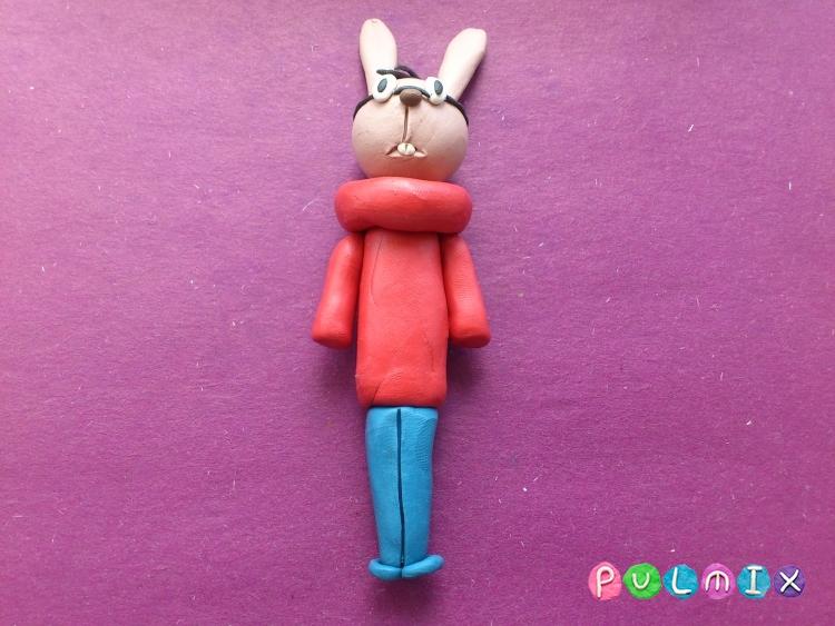 Как слепить Кролика из пластилина из Винни-Пуха поэтапно - шаг 9