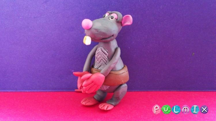 Как слепить крысу Веню из Белка и Стрелка поэтапно