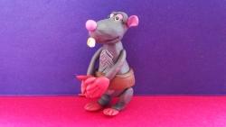 Как слепить крысу Веню из пластилина персонажа мультфильма «Белка и Стрелка»