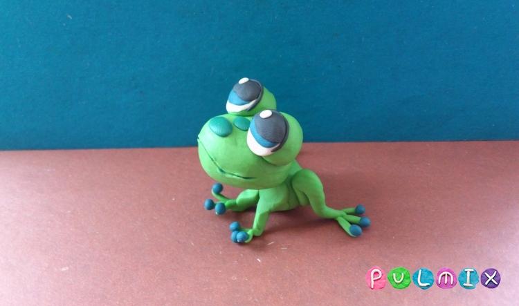 Как слепить лягушку Pet Shop из пластилина поэтапно - шаг 10