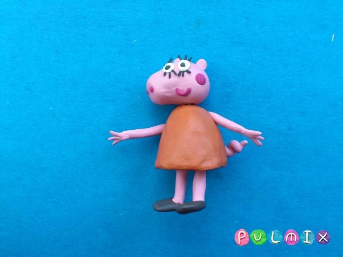 Как слепить маму Свинку из пластилина поэтапно - шаг 10