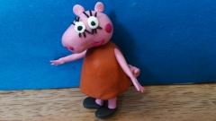 Как слепить  маму Свинку из мультсериала Свинка Пеппа