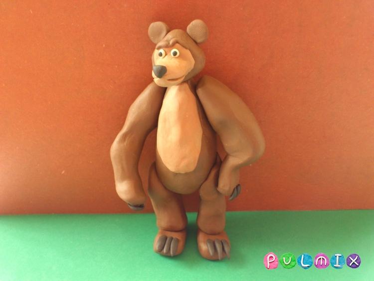 Как слепить Медведя из Маша и Медведь урок с фото - шаг 12