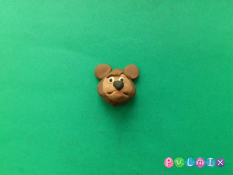 Как слепить Медведя из Маша и Медведь урок с фото - шаг 5