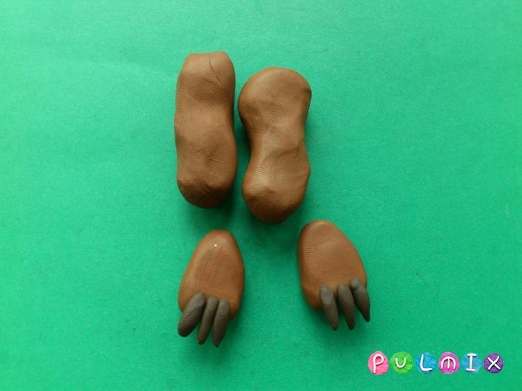 Как слепить Медведя из Маша и Медведь урок с фото - шаг 9