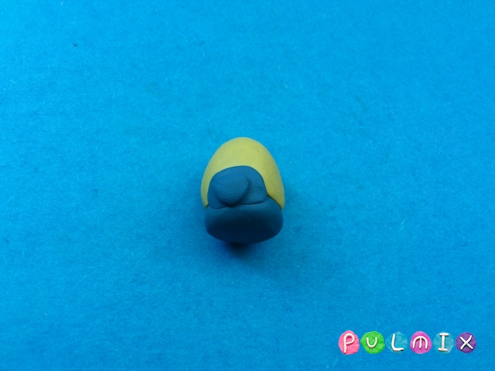Как слепить миньона Боба из пластилина фото урок - шаг 2