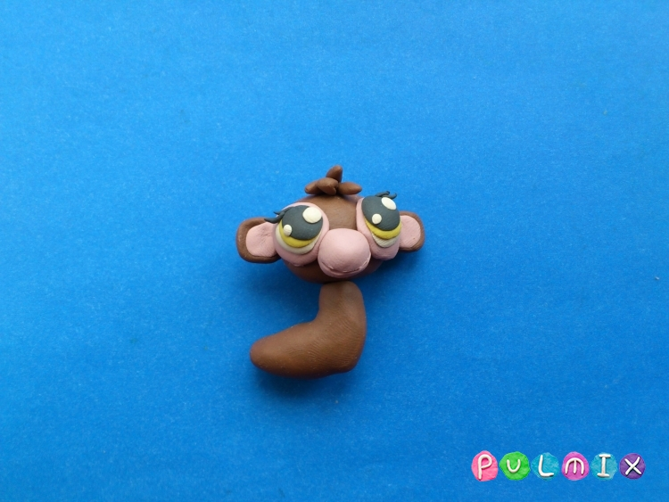 Как слепить обезьянку Littlest Pet Shop из пластилина - шаг 10