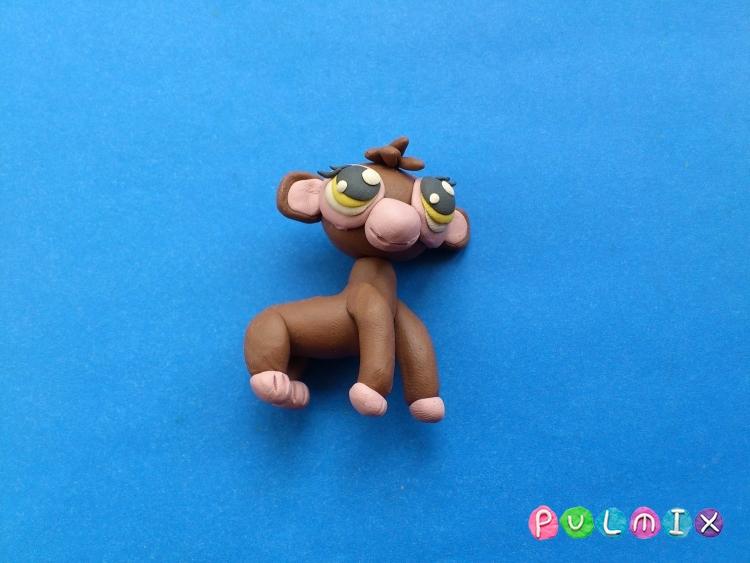 Как слепить обезьянку Littlest Pet Shop из пластилина - шаг 12