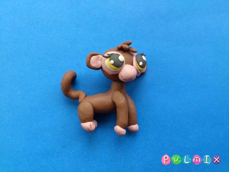 Как слепить обезьянку Littlest Pet Shop из пластилина - шаг 13