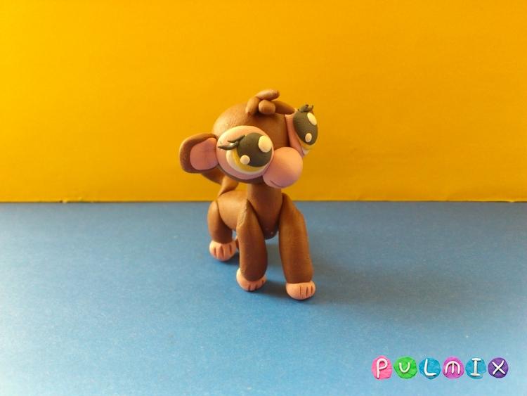 Как слепить обезьянку Littlest Pet Shop из пластилина - шаг 14