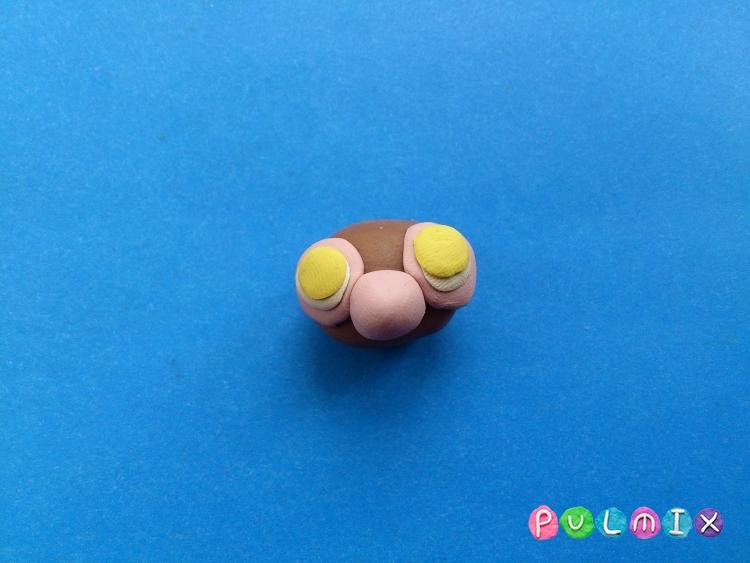 Как слепить обезьянку Littlest Pet Shop из пластилина - шаг 4