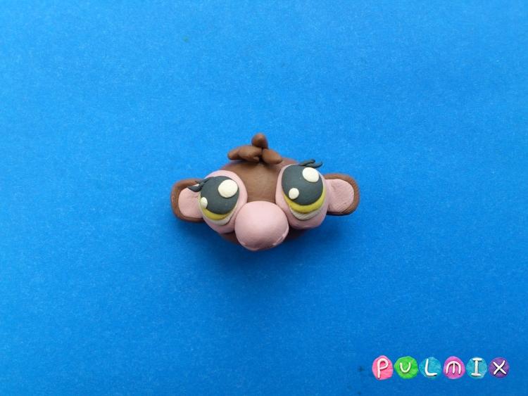 Как слепить обезьянку Littlest Pet Shop из пластилина - шаг 7
