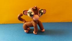 Как слепить обезьянку Littlest Pet Shop из пластилина