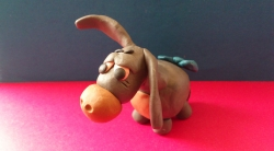 Как слепить Ослика Иа из пластилина поэтапно – героя мультфильма о Винни-Пухе