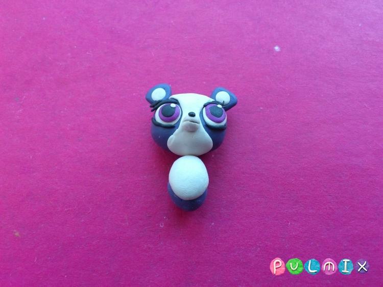 Как слепить панду Pet Shop из пластилина поэтапно - шаг 12