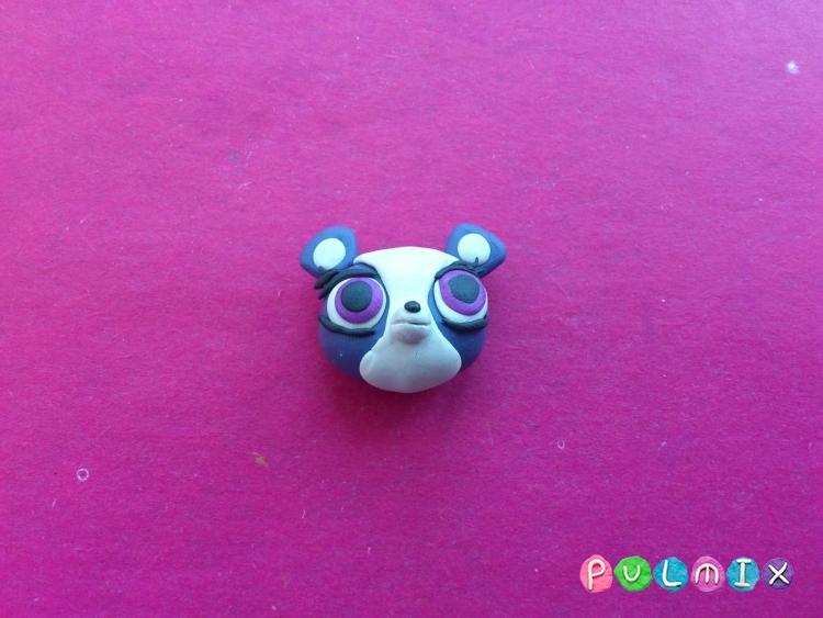 Как слепить панду Pet Shop из пластилина поэтапно - шаг 7