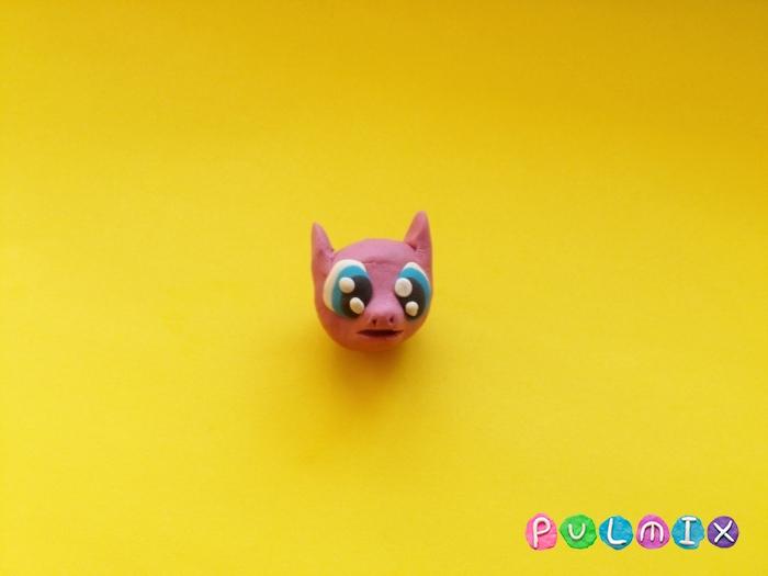 Как слепить пони Пинки Пай из пластилина поэтапно - шаг 4