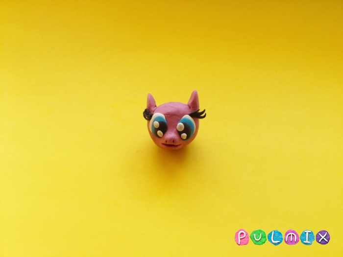 Как слепить пони Пинки Пай из пластилина поэтапно - шаг 5