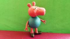 Как слепить из пластилина поросенка Джорджа персонажа мультсериала Свинка Пеппа