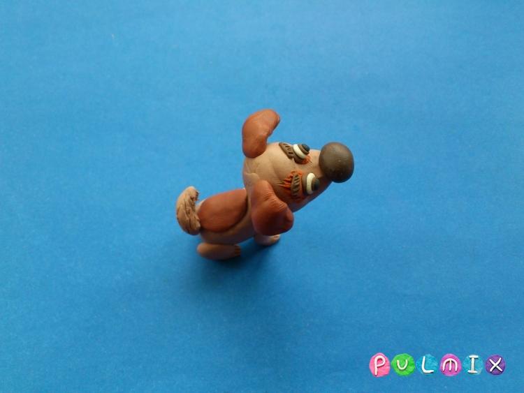 Как слепить щенка Бублика из пластилина урок с фото - шаг 11