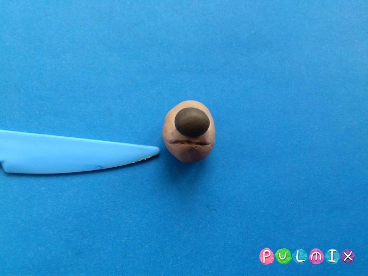 Как слепить щенка Бублика из пластилина урок с фото - шаг 4