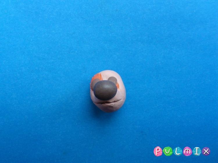 Как слепить щенка Бублика из пластилина урок с фото - шаг 5
