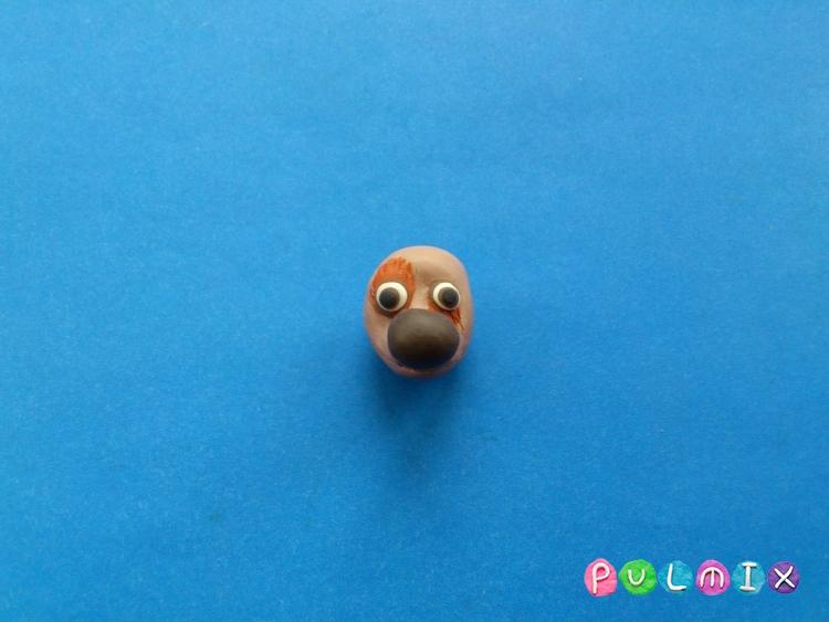Как слепить щенка Бублика из пластилина урок с фото - шаг 6