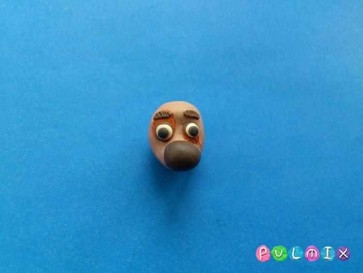 Как слепить щенка Бублика из пластилина урок с фото - шаг 7