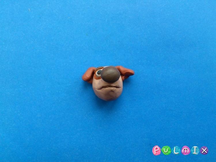 Как слепить щенка Бублика из пластилина урок с фото - шаг 8