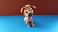 Как слепить щенка Бублика из пластилина урок с фото
