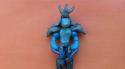 Лепка Шреддера из пластилина - героя мультфильма о черепашках-ниндзя