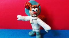 Как слепить из пластилина белку Сэнди – персонажа мультсериала Губка Боб