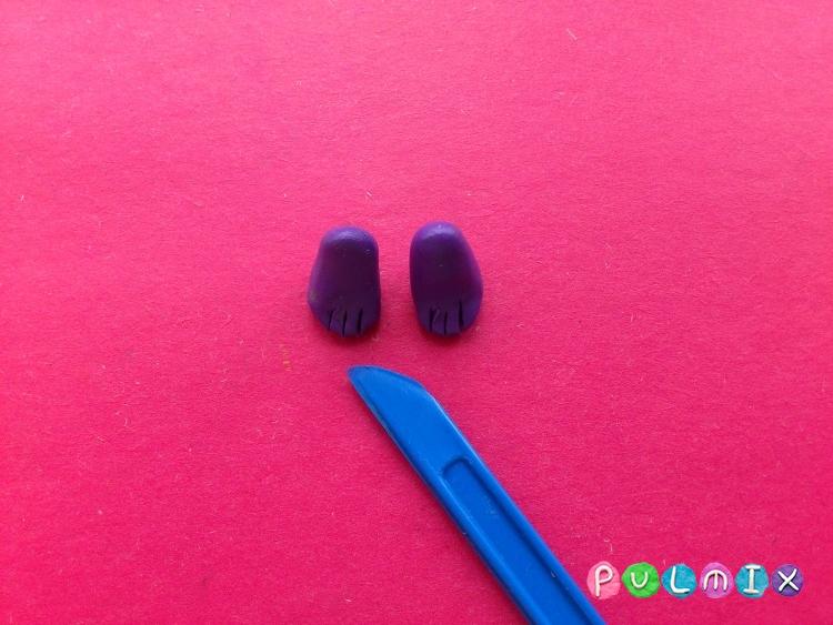 Как слепить Спайка из пластилина поэтапно - шаг 7