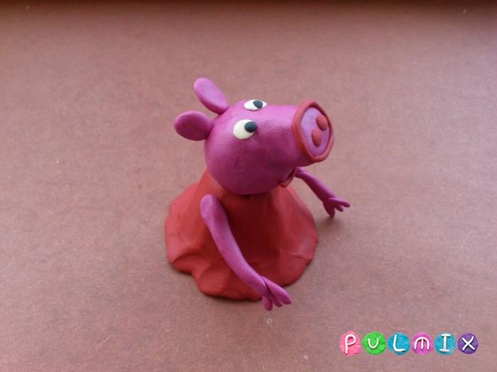 Как слепить свинку Пеппу из пластилина поэтапно - шаг 10